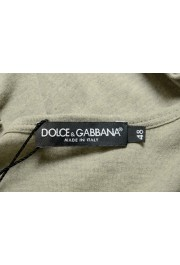 Dolce & Gabbana Men's Green Graphic Print Crewneck T-Shirt: Picture 5