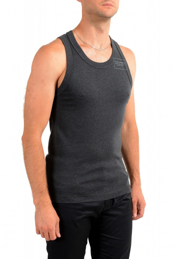 Dolce & Gabbana Men's Dark Gray Tank Top: Picture 2