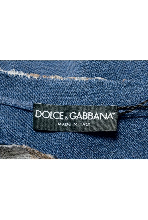 Dolce & Gabbana Men's Multi-Color Knitted Sweater T-Shirt: Picture 5