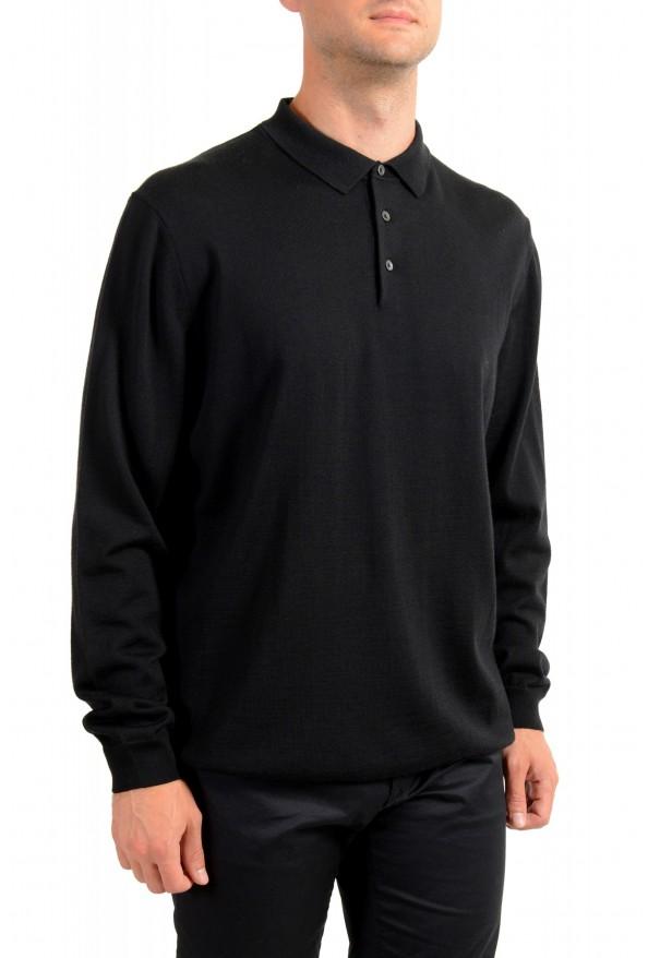 "Hugo Boss ""Bono_GSU"" Men's 100% Wool Black Polo Style Sweater : Picture 2"