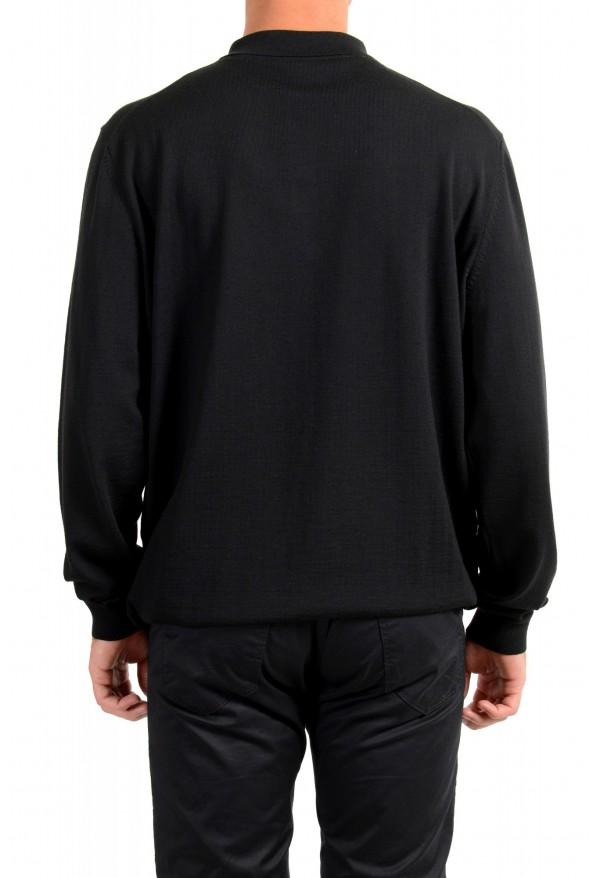 "Hugo Boss ""Bono_GSU"" Men's 100% Wool Black Polo Style Sweater : Picture 3"