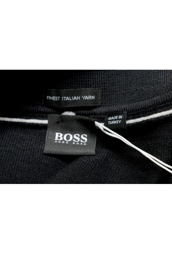 "Hugo Boss ""Bono_GSU"" Men's 100% Wool Black Polo Style Sweater : Picture 5"