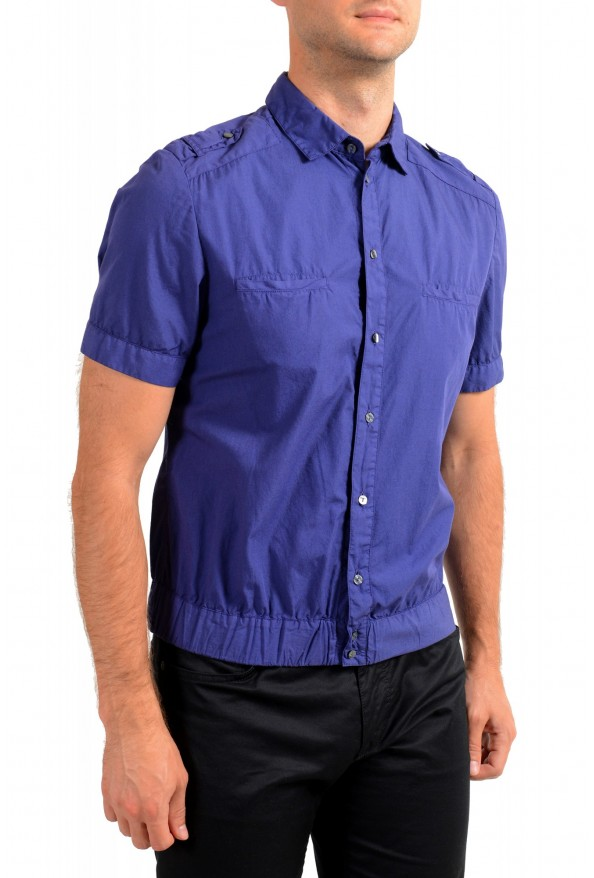 Dolce & Gabbana Men's Purple Button Down Short Sleeve Shirt : Picture 2