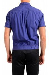 Dolce & Gabbana Men's Purple Button Down Short Sleeve Shirt : Picture 3