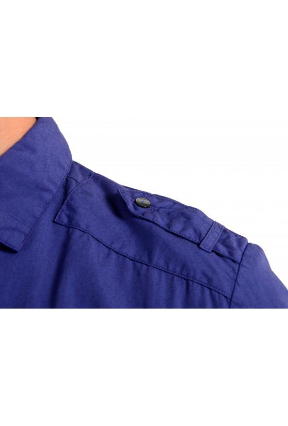 Dolce & Gabbana Men's Purple Button Down Short Sleeve Shirt : Picture 4