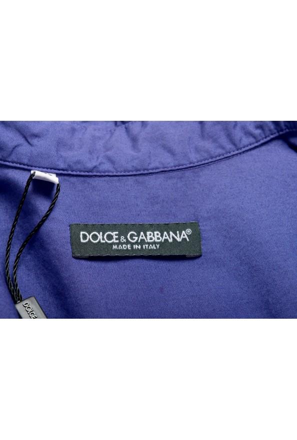 Dolce & Gabbana Men's Purple Button Down Short Sleeve Shirt : Picture 5