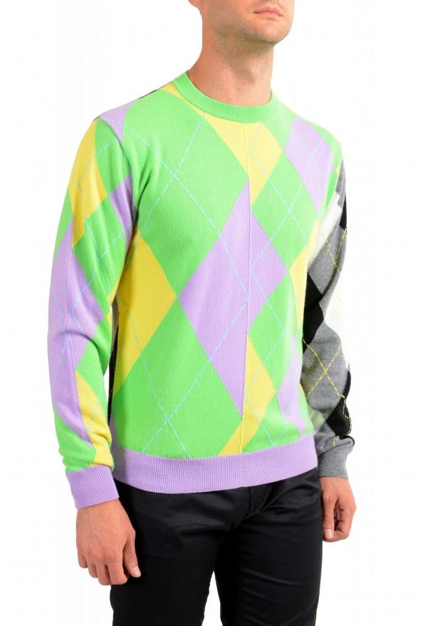 Versace Men's Multi-Color 100% Cashmere Crewneck Sweater: Picture 2