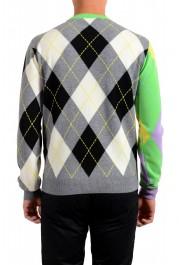 Versace Men's Multi-Color 100% Cashmere Crewneck Sweater: Picture 3