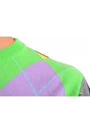 Versace Men's Multi-Color 100% Cashmere Crewneck Sweater: Picture 4