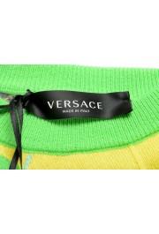 Versace Men's Multi-Color 100% Cashmere Crewneck Sweater: Picture 5
