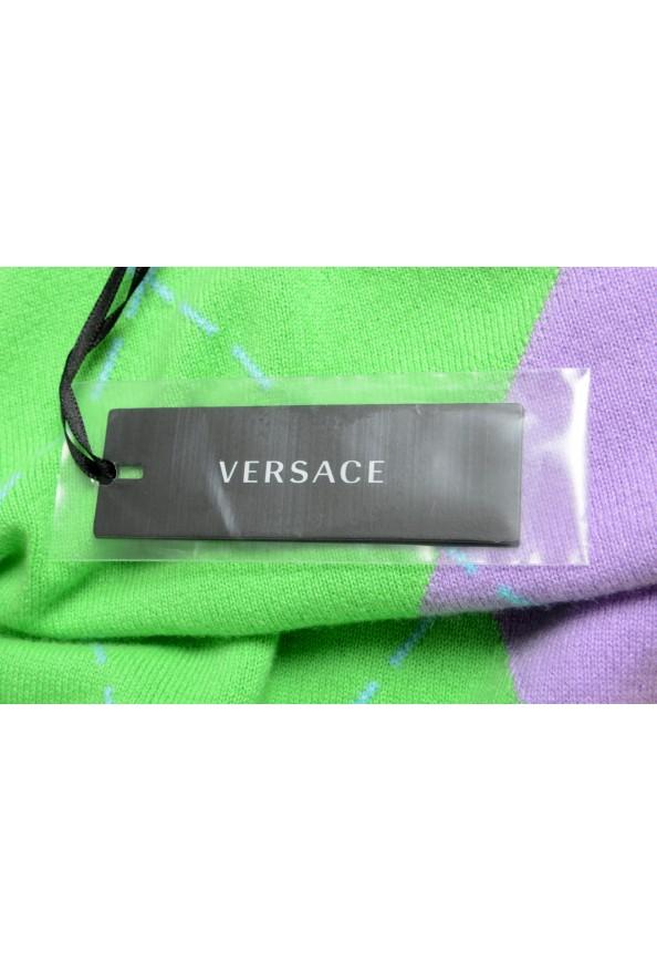 Versace Men's Multi-Color 100% Cashmere Crewneck Sweater: Picture 6