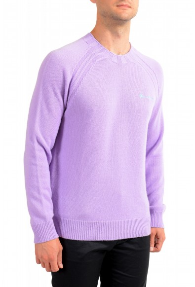 Versace Men's Purple 100% Cashmere Crewneck Sweater: Picture 2