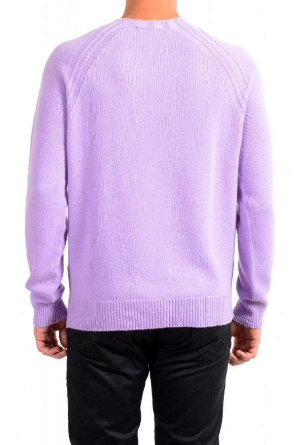 Versace Men's Purple 100% Cashmere Crewneck Sweater: Picture 3