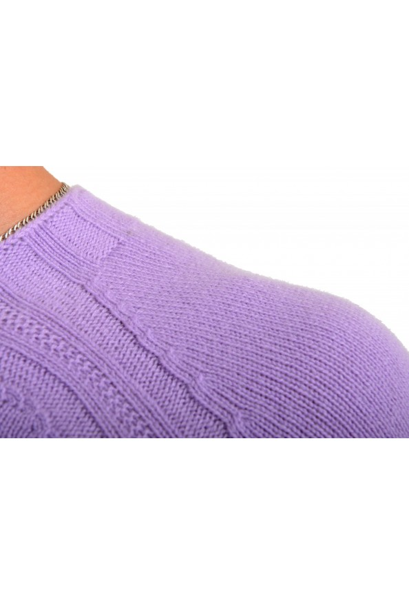 Versace Men's Purple 100% Cashmere Crewneck Sweater: Picture 4