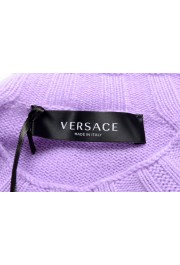Versace Men's Purple 100% Cashmere Crewneck Sweater: Picture 5