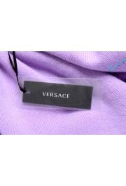 Versace Men's Purple 100% Cashmere Crewneck Sweater: Picture 6