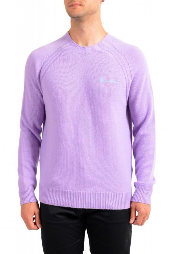 Versace Men's Purple 100% Cashmere Crewneck Sweater