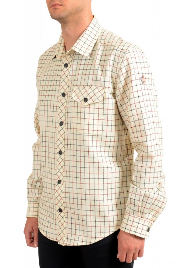 Moncler Men's Plaid 100% Wool Long Sleeve Casual Shirt : Picture 2