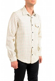 Moncler Men's Plaid 100% Wool Long Sleeve Casual Shirt : Picture 3
