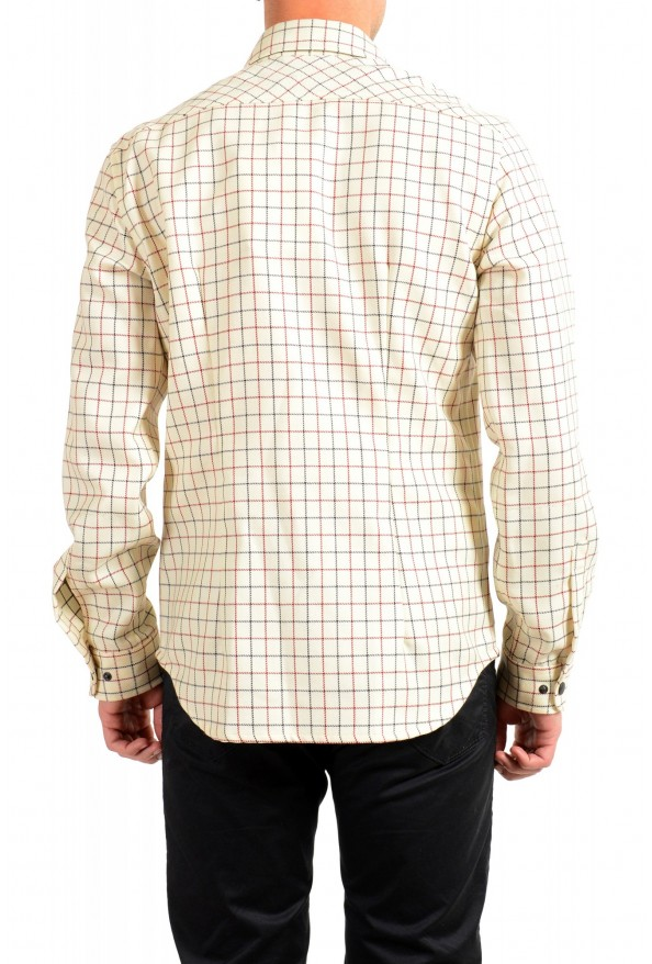 Moncler Men's Plaid 100% Wool Long Sleeve Casual Shirt : Picture 4