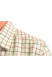 Moncler Men's Plaid 100% Wool Long Sleeve Casual Shirt : Picture 5