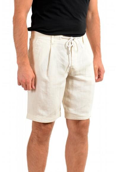 "Hugo Boss Men's ""Symon-Shorts"" Beige Casual 100% Linen Shorts : Picture 2"