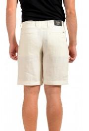 "Hugo Boss Men's ""Symon-Shorts"" Beige Casual 100% Linen Shorts : Picture 3"