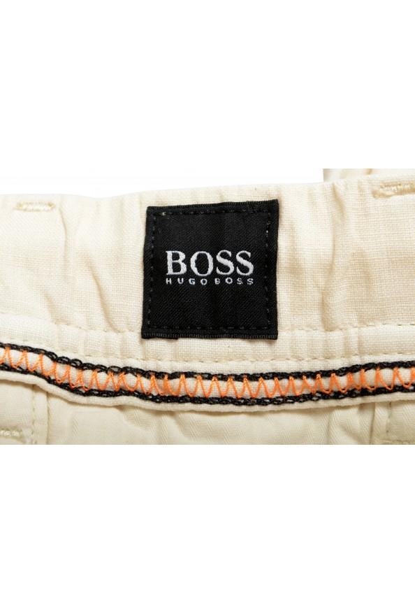"Hugo Boss Men's ""Symon-Shorts"" Beige Casual 100% Linen Shorts : Picture 4"