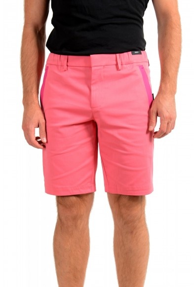 "Hugo Boss Men's Slim Fit ""Liem4-10"" Pink Casual Shorts"