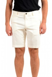 "Hugo Boss Men's ""Slice-Short"" Ivory Casual Shorts"