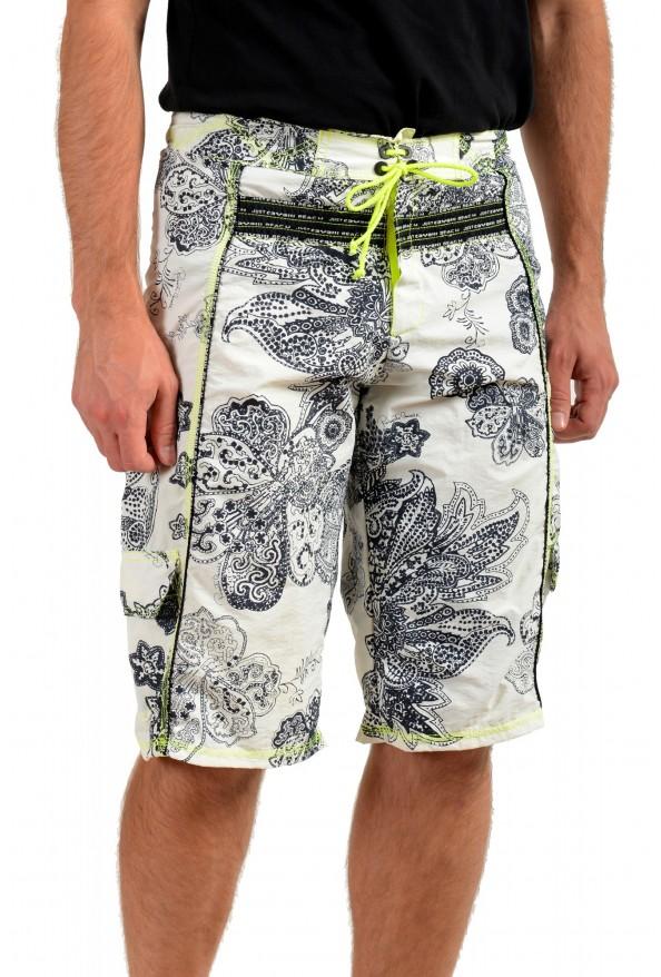 Roberto Cavalli Men's Multi-Color Floral Print Swim Board Shorts: Picture 2