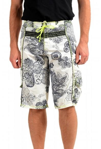 Roberto Cavalli Men's Multi-Color Floral Print Swim Board Shorts