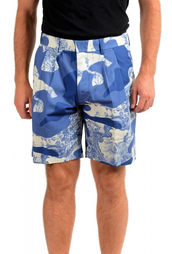 "Hugo Boss Men's ""Kedno-Short-D-Pleats"" Multi-Color Pleated Shorts"