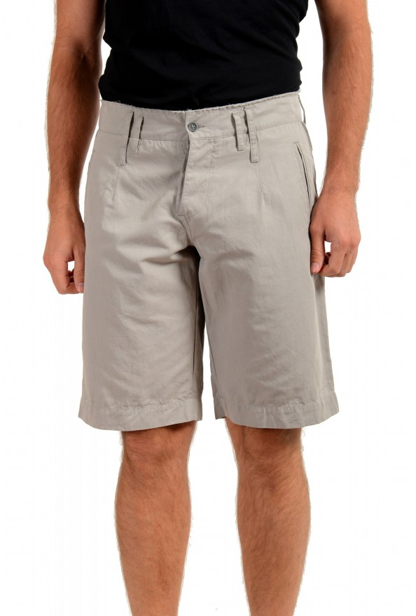 Dolce & Gabbana Men's Gray Linen Casual Shorts