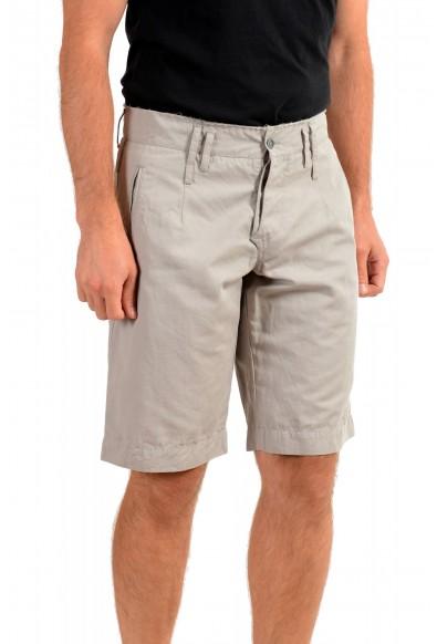 Dolce & Gabbana Men's Gray Linen Casual Shorts: Picture 2