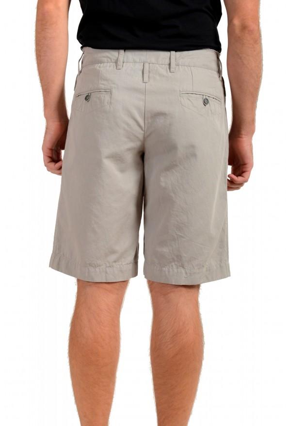 Dolce & Gabbana Men's Gray Linen Casual Shorts: Picture 3