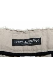 Dolce & Gabbana Men's Gray Linen Casual Shorts: Picture 4