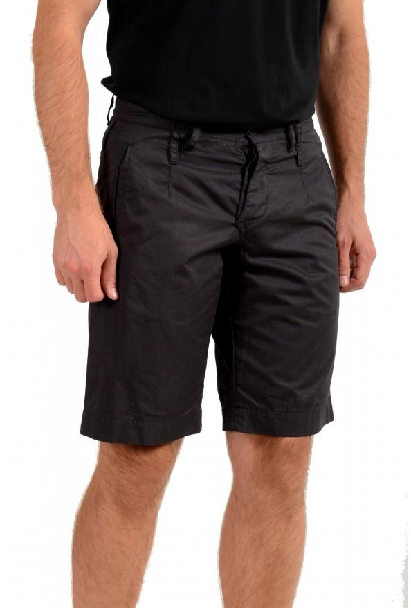 Dolce & Gabbana Men's Dark Gray Linen Casual Shorts: Picture 2