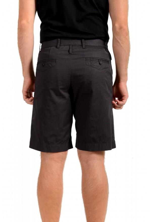 Dolce & Gabbana Men's Dark Gray Linen Casual Shorts: Picture 3