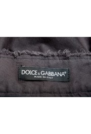 Dolce & Gabbana Men's Dark Gray Linen Casual Shorts: Picture 4