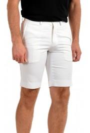 Prada Men's White Flat Front Shorts: Picture 2