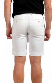 Prada Men's White Flat Front Shorts: Picture 3