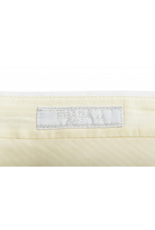 Prada Men's White Flat Front Shorts: Picture 4