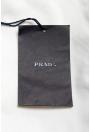 Prada Men's White Flat Front Shorts: Picture 5