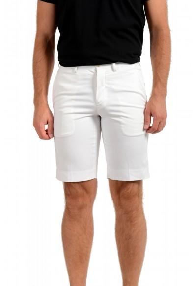Prada Men's White Flat Front Shorts