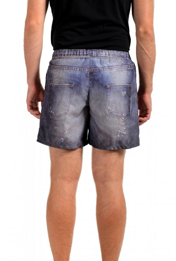 Just Cavalli Men's Denim Print Swim Board Shorts: Picture 3