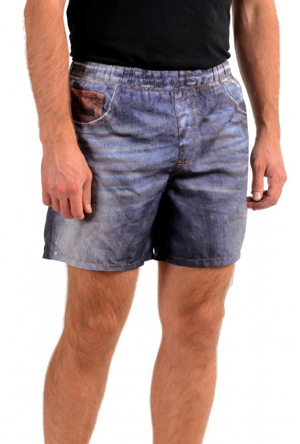 Just Cavalli Men's Denim Print Swim Board Shorts: Picture 2