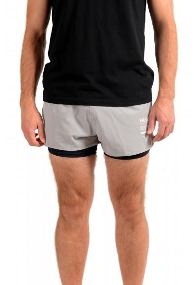 "Hugo Boss Men's ""SPREENT"" Gray Active Shorts"