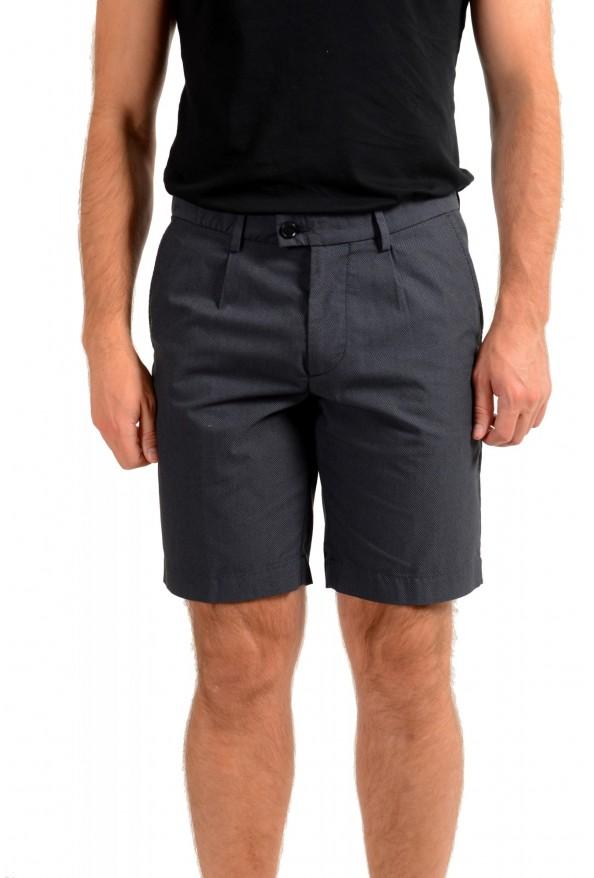 "Hugo Boss Men's ""Slice-Shortd-Pleats"" Blue Casual Shorts"