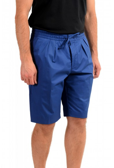 "Hugo Boss Men's ""Kirio-Short-Pleats-D"" Blue Casual Shorts: Picture 2"